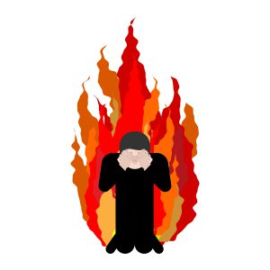 orang takut akan neraka berdoa